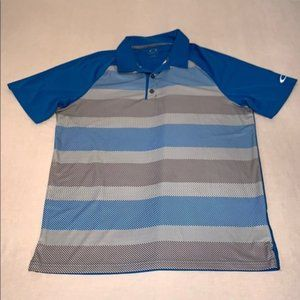 Oakley Quick Dry Stripe Print Polo Shirt M